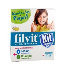 Kit Antipiojos Filvit Tratamiento Total Locion + Champu