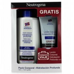 Pack Neutrogena Locion Corporal Hidratacion Profunda 400 ml + Regalo* Locion Formato Viaje 75 ml