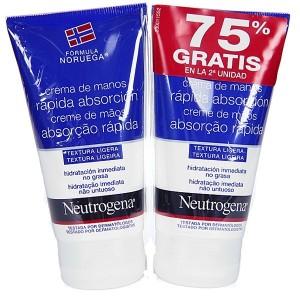 Neutrogena Crema de manos de Rápida Absorción Duplo 2 x 75 ml